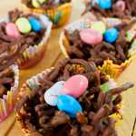no Bake Easter Birds nest in cupcake liners