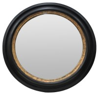 Large Black/Gold Round Mirror 1100mm dia - Mainly Mirrors