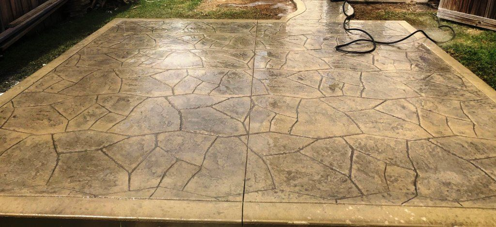 what is stamped concrete decorative