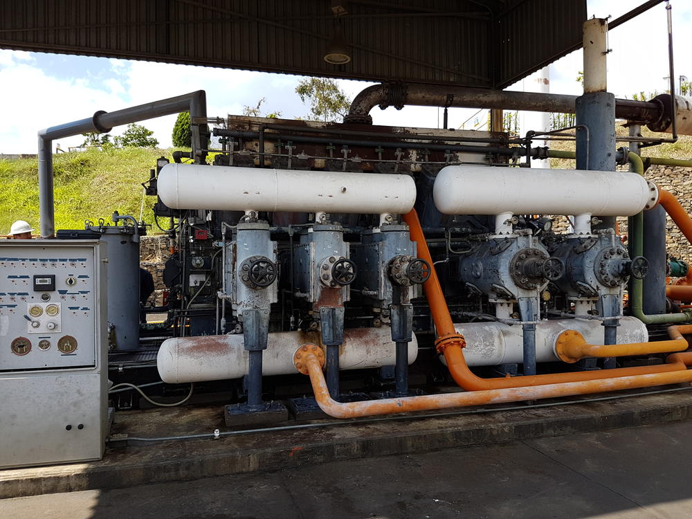 Information about Old Ingersoll Rand 12SVG gas compressor