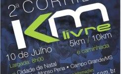 2ª Corrida KM Livre 5/10Km e caminhada – 10 de Julho