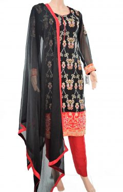 Black red Shalwar Kamiz