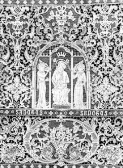 A tabernacle veil of Kenmare Lace (1911)