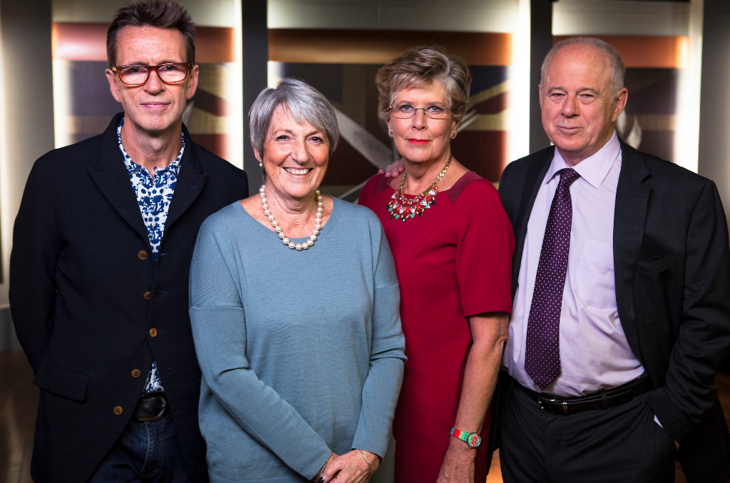 Prue Leith, Oliver Peyton and Matthew Fort styled by Mair Joint
