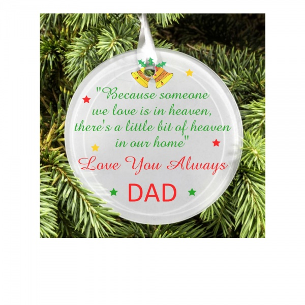 Personalised Christmas Tree Decoration Christmas Tree Memorial Decoration Personalised Memorial Glass Ornament Maisiemoogifts Co Uk