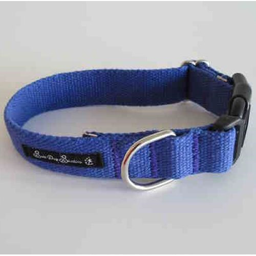 Indigo Hemp Dog Collar
