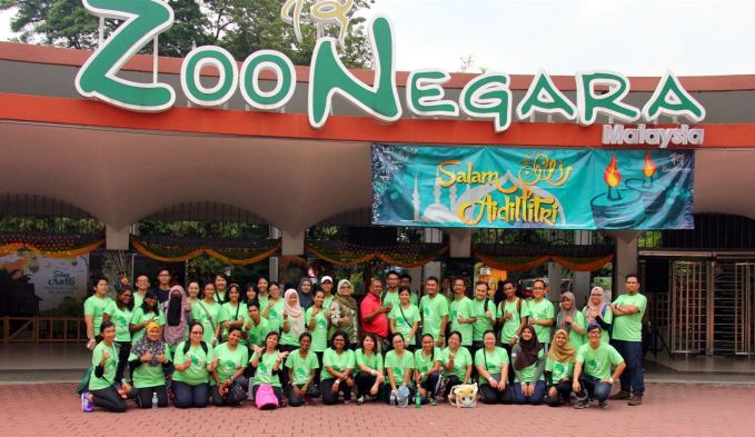 Program Sukarelwan Zoo Negara - Team Photo