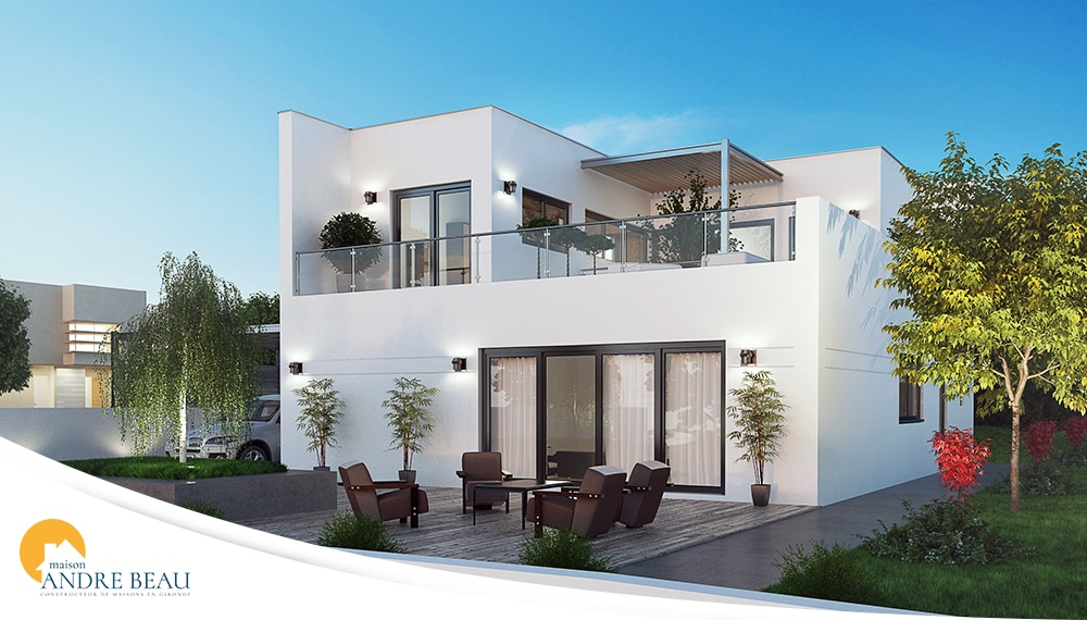 Biscarosse  maison moderne avec terrasse