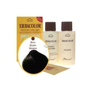 Teinture Brun 120 ml Numéro 02 erbacolor