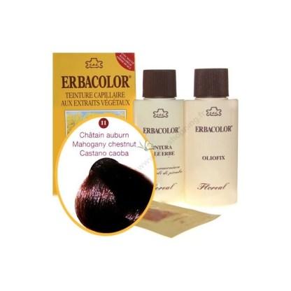 Teinture Châtain auburn 120 ml Numéro 11 Erbacolor