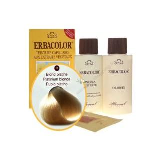 Teinture Blond platine 120 ml Numéro 10 Erbacolor