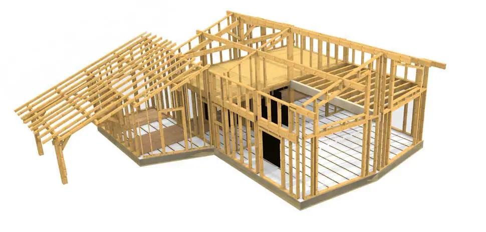 Plan Maison Ossature Bois Plain Pied Gratuit Plan Maison Plein Pied