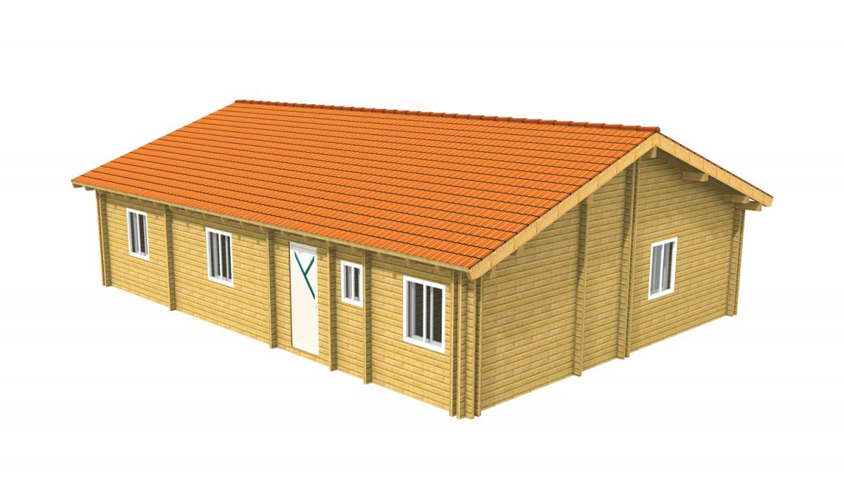 Avis maison en bois en kit for Maison bois en u