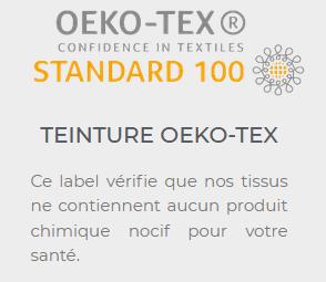 Maison Carrillo n'utilise que de la teinture Oeko-tex