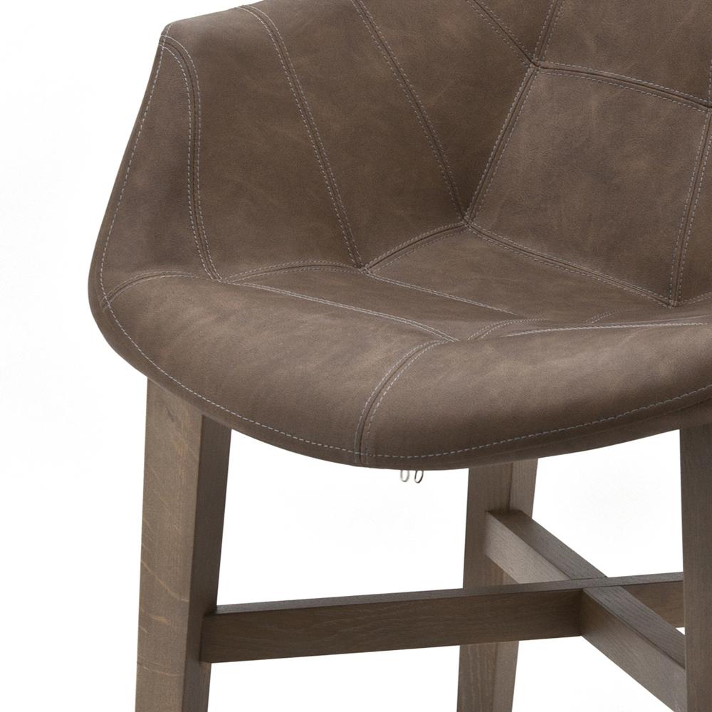 Vintage Stuhl NEBA braun Armlehne Polsterstuhl Sessel Esszimmer Esszimmerstuhl  New  Maison