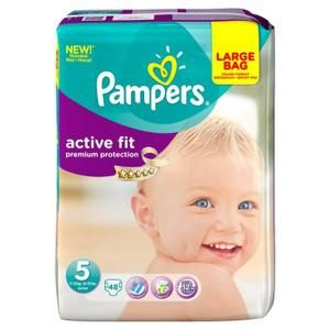 pampers couche active fit taille 5 48 couches