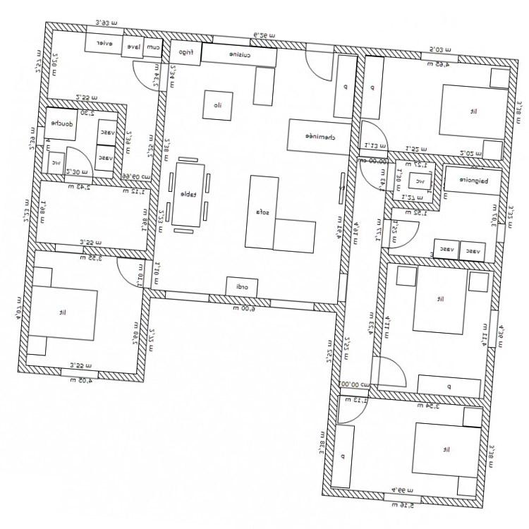 Plan De Maison En U. Excellent Plan De Maison En U With Plan De