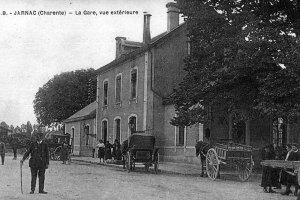 Gare de Jarnac vue extérieure ville natale