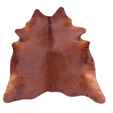 Peau de vache marron naturelle