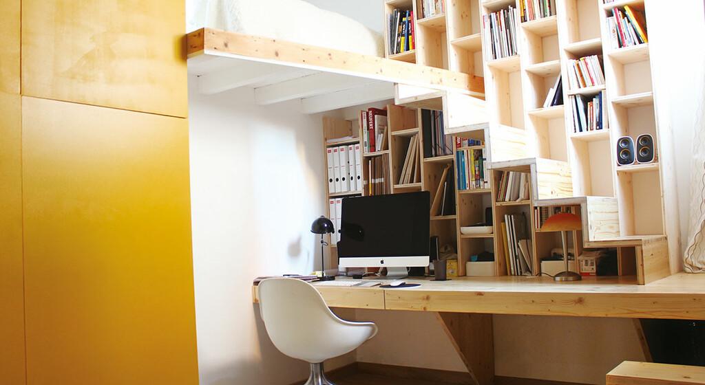 optimiser un escalier entre bureau et
