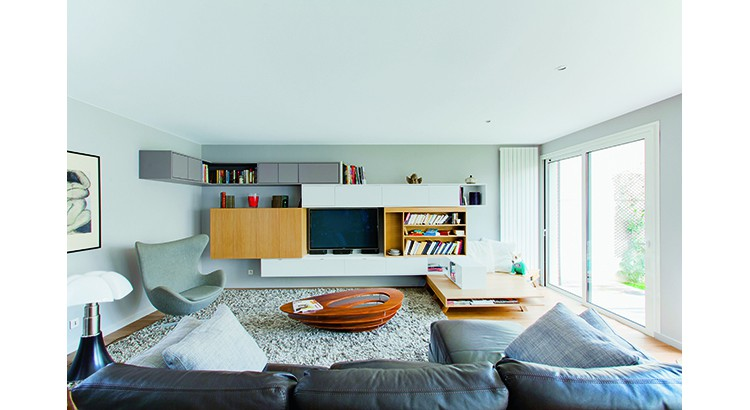 integrer televiseur tv salon meuble