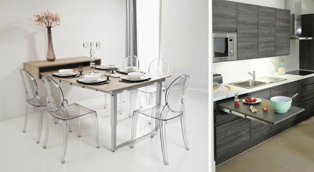tables de cuisines modulables gain de