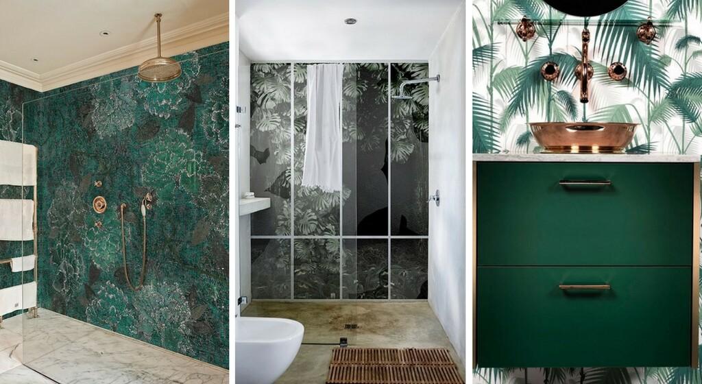 papier peint salle de bain maison travaux