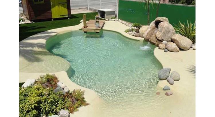 jardin en plage paradisiaque