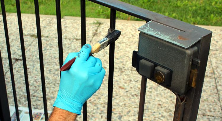 pour peindre un portail en fer