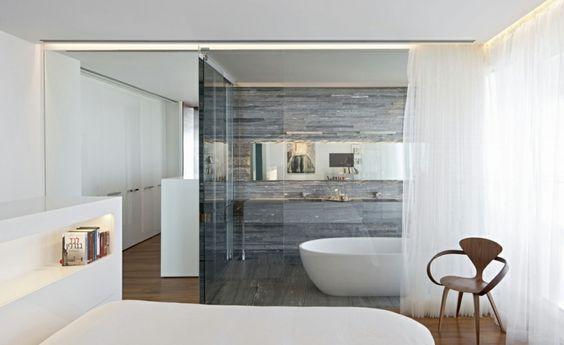 de bains qui s ouvrent sur la chambre