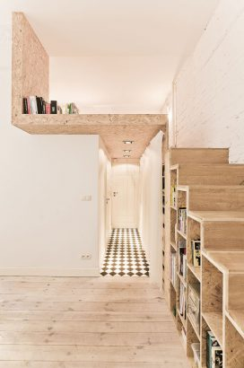 espace sous un lit mezzanine