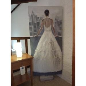 Peinture Robe drapée mariée