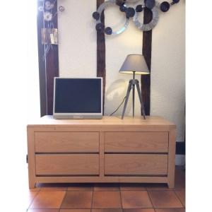 Commode télévision Ellipse 2 tiroirs 1 porte