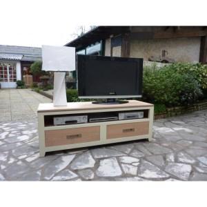 Commode TV Ellipse ivoire