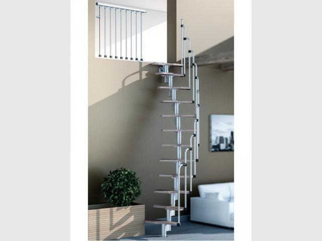 Escalier Ouvert Salon Trendy Un Escalier Courbe Dans Un