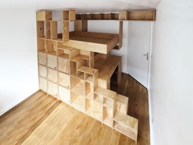 Une mezzanine surmesure pour une petite chambre