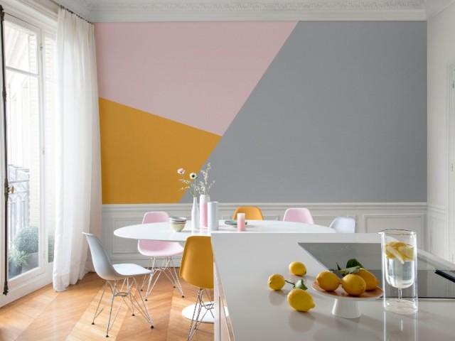 Peinture  des triangles sur mon mur