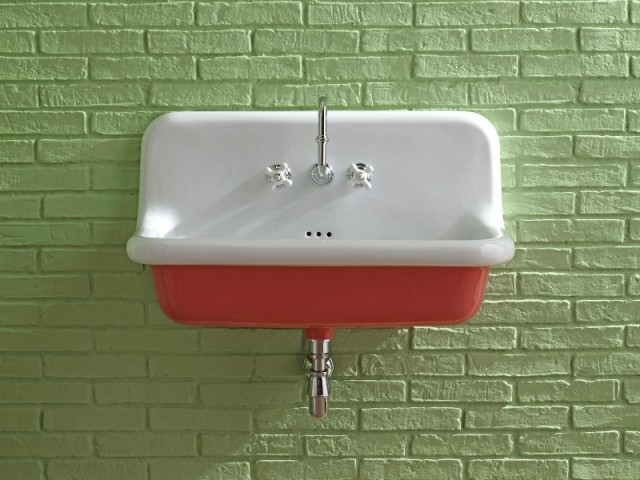 des lavabos retro aux couleurs funky