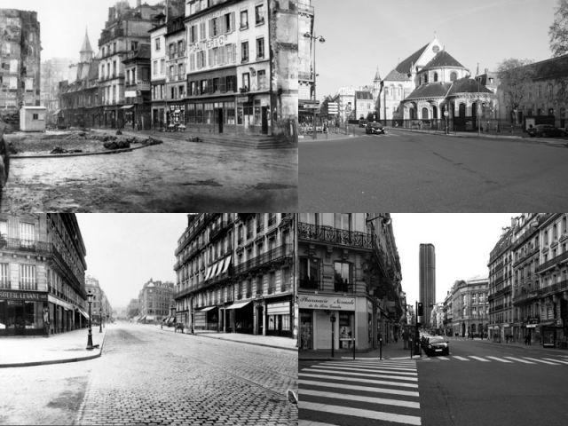 Paris dhier et daujourdhui un avantaprs en photos