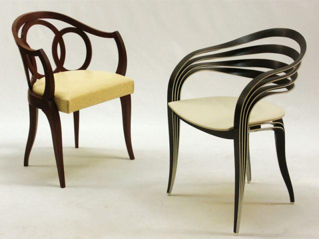 1 fauteuil art deco revisite avec 1