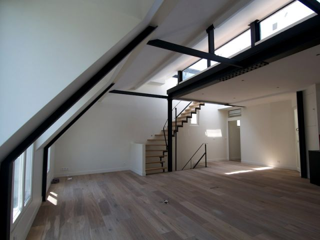 4 appartements transforms en duplex avec terrasse
