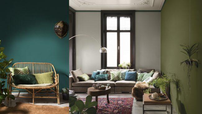 Olijf groen in huis  Maison Belle