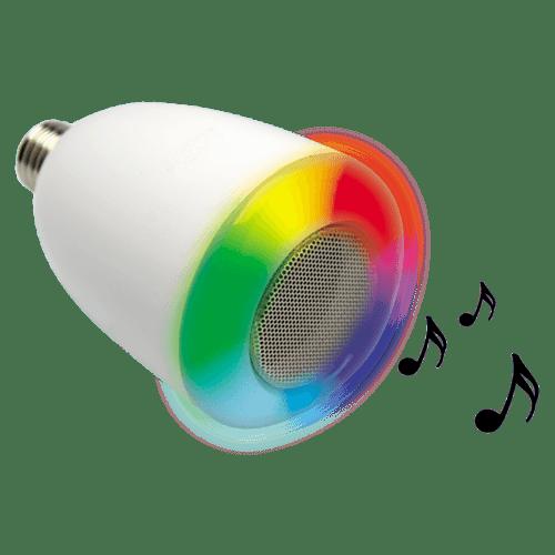 Design du Meli Extel, ampoule musicale à variation de couleur