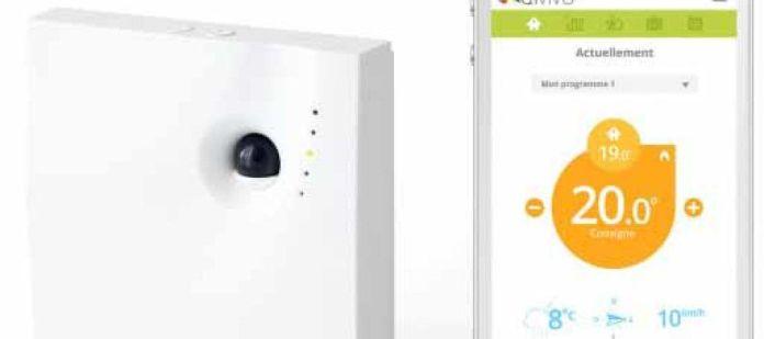 Thermostat connecté Qivivo commande à distance via Smartphone