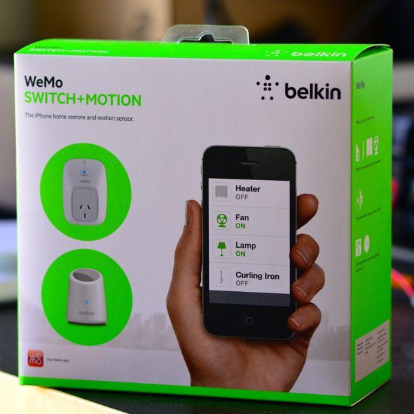 WEMO prise connectée et détecteur de mouvement