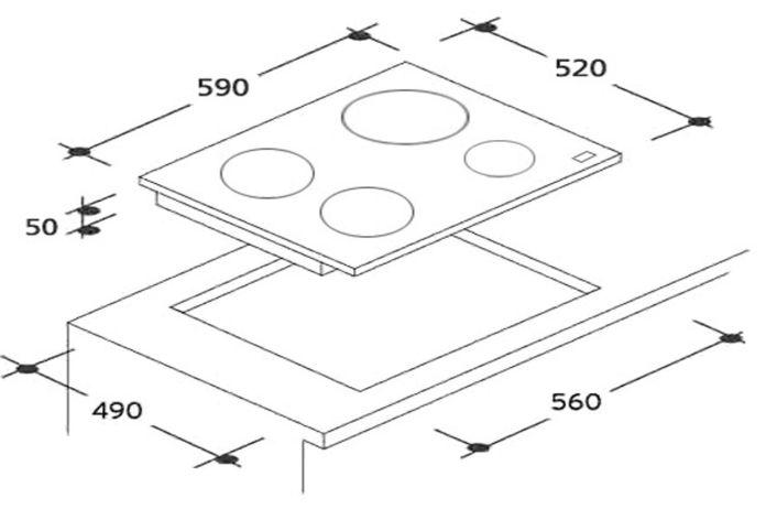 La table induction connectée Candy est très facile à utiliser et à nettoyer