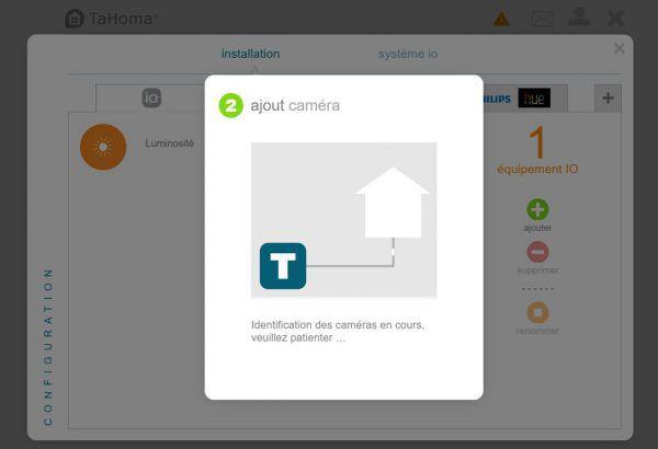 Interface de contrôle de la somfy box Tahoma