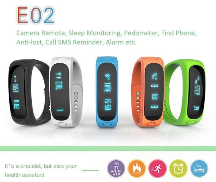 Les couleurs du bracelet connecté Tera E02