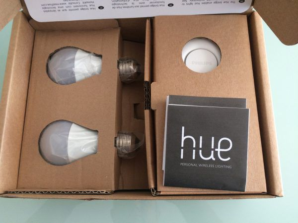 contenu du kit starter philips hue white