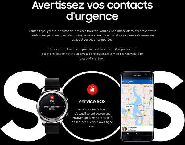 la montre connectee Samsung Gear S3-montre cardio-montre sport
